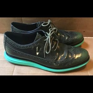 Cole Haan Lunarlon Leather Wing Tip Casual Shoes